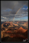 Arc en ciel sur le grand canyon